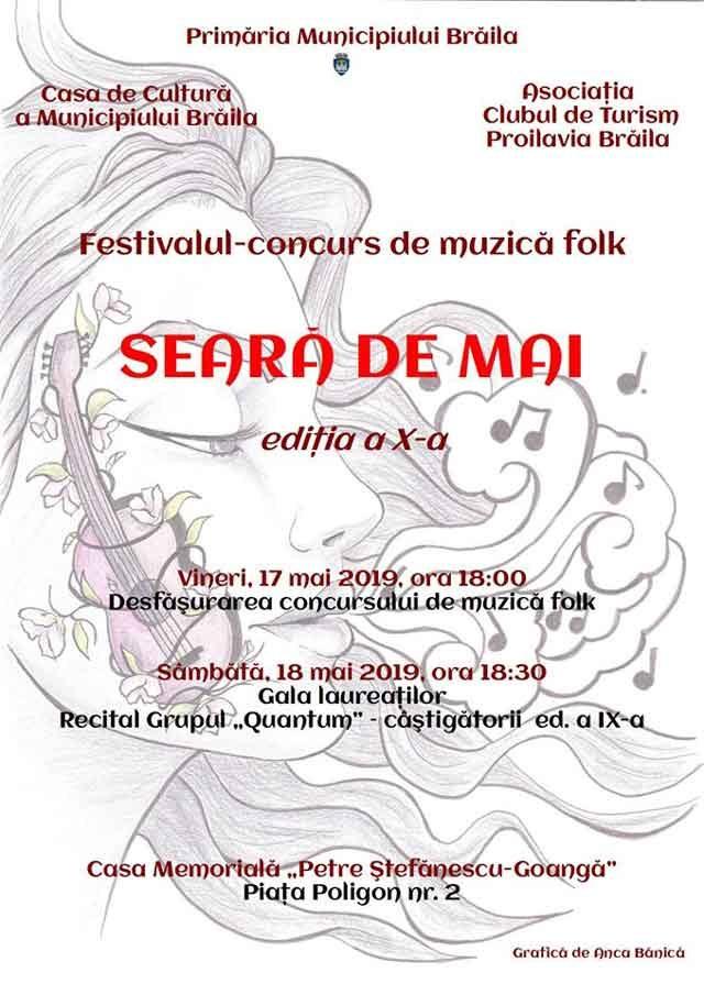 Seară de Mai - festival-concurs de muzică folk la Brăila