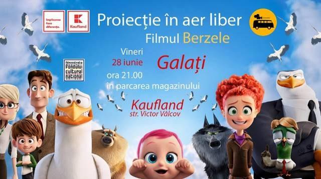 Berzele-Film în aer liber la Kaufland Galați pe 28 iunie