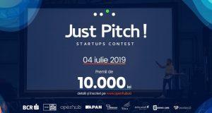 Just Pitch! Startups Contest - concurs dedicat antreprenorilor aflaţi la început de drum