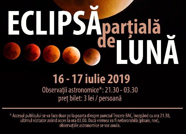 Eclipsă parțială de Lună – noaptea de 16-17 iulie 2019