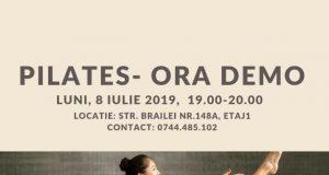 Oră demo de pilates pentru toate vârstele - pe 8 iulie