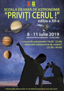 """Școala de Vară de astronomie """"Priviți cerul!"""", ediția a XII-a"""