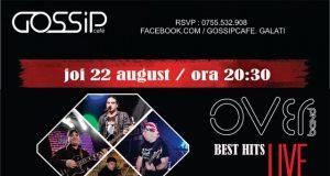Trupa Over live - Hai și tu la o seară de relaxare în Gossip Cafe