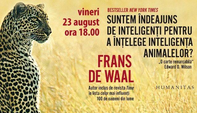 O nouă carte de Frans de Waal - Lansare la Galați
