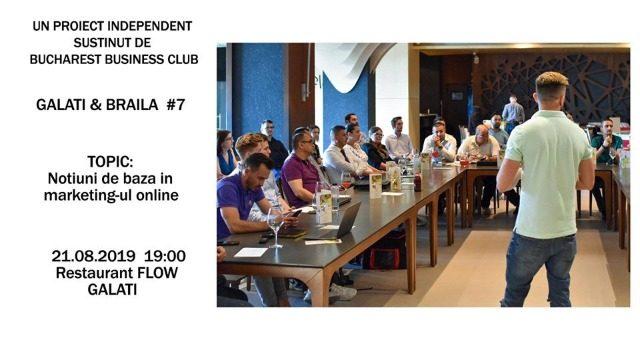 Proiect BBC #7 Galați și Brăila susținut de Bucharest Business Club