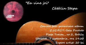 Ea vine joi - Cătălin Stepa vă invită la o seară cu muzică folk live