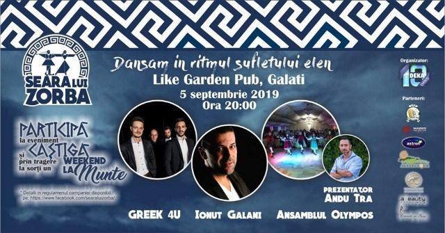 Seara lui Zorba cu Ionut Galani la Like Garden Pub
