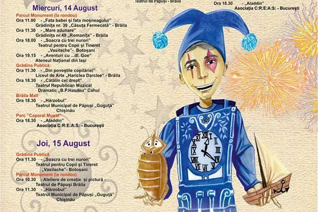 """Festivalul de Teatru pentru Copii """"Cărăbuş"""" - între 11 şi 15 august, la Brăila"""