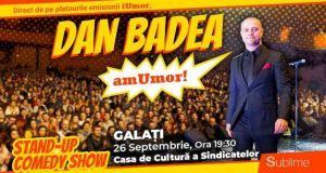 Dan Badea vine la Galati cu un show de Stand Up Comedy