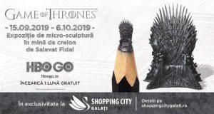 Expoziție Game of Thrones la Shopping City Galați