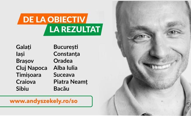 """De la obiectiv la rezultat"" - workshop cu Andy Szekely"