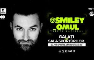 Smiley Omul va susține un concert la Galați în cadrul turneului său național