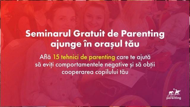 Urania Cremene găzduiește seminarul gratuit de Parenting