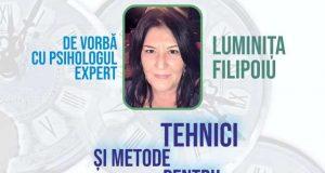 Tehnici și metode pentru diminuarea stresului cu Luminița Filipoiu