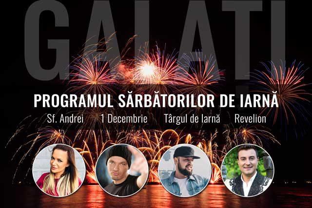 Sărbătorile de iarnă cu concerte și artificii, de la Sf. Andrei până la Revelion