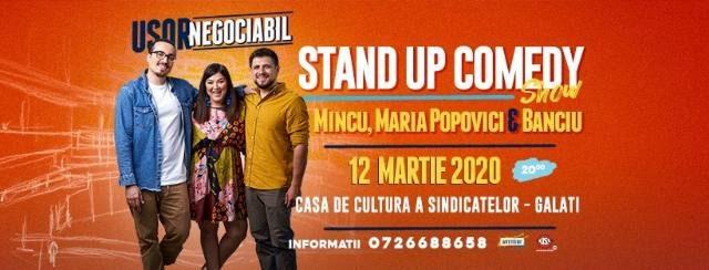 """""""Ușor negociabil"""" - stand-up comedy"""