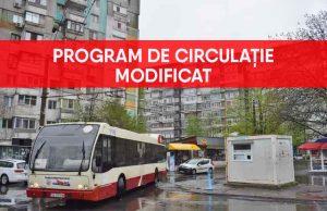 Program modificat de Transurb ca măsură de prevenire a Covid 19